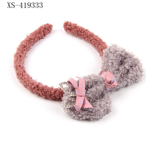 Plush Hairband With Bowknot Make Up Face Washing Hairband