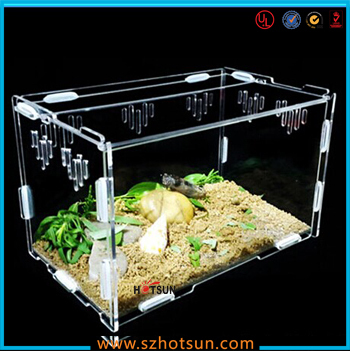 High Quality Clear Acrylic Hamster Cage 2 Tiers Acrylic Pet Cages