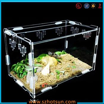 Diy Detachable Clear Acrylic Reptile Terrarium Plastic Reptile Cages