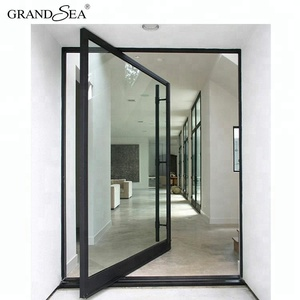 Modern office main entrance heavy duty aluminum pivot door design