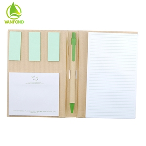 Warm Welcome Recycled Notebpad With Stand Pen Gift Set