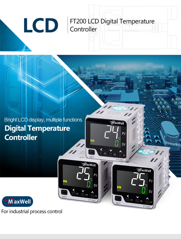 FT200 LCD temperature insrutment with SSR and 1 alarm output