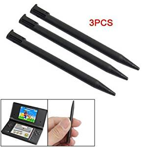 Water & Wood 3 Pcs Black Plastic Screen Touch Pen for Nintendo 3DS