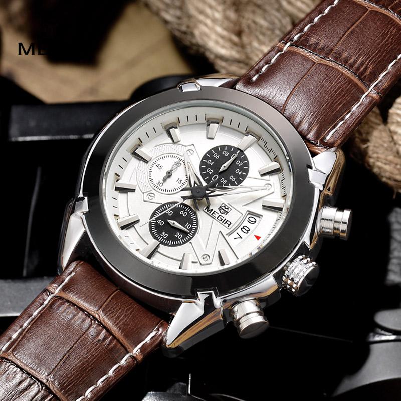 Aliexpress.com : Buy megir fashion leather sports quartz ...