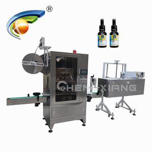 China supplier e-liquid bottle shrink sleeve label machine,10ml round bottle shrink sleeve labeling