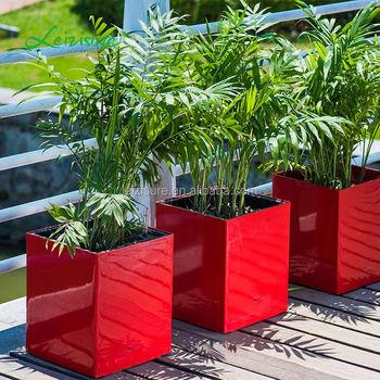 Large Square Decorative Manufacturers Garden Pots Plastic Plant Pots  Outdoor Decorative Cover Wholesale