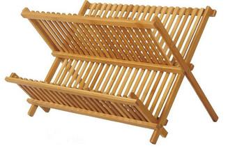Hot Ing Bamboo Plate Storage Rack Kitchen Dish Drying Drainer Traditional Wooden Dinner Racks Corner