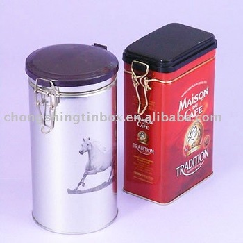 plastic lid and packing tea tin can