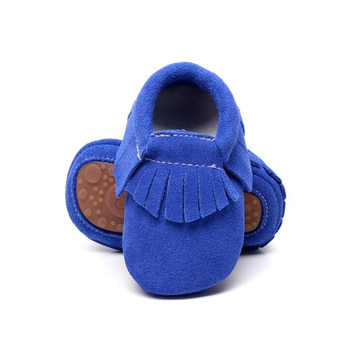 Candy color soft Leather fringe suede Baby Moccasins First Walkers tassel toddler shoes