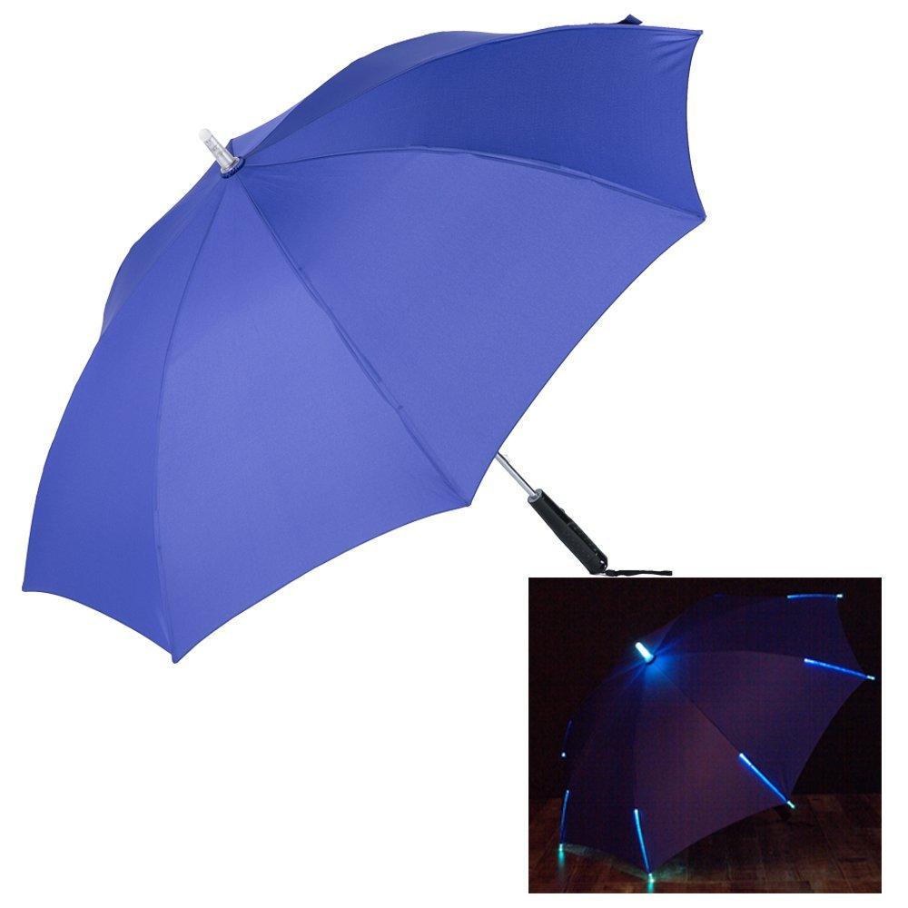 TOOLIFE Led Umbrella - Shining Flicker Led Ribs Staright Umbrella With Torch Flashlight Handle Safely Ourdoor Night Walking Umbrella