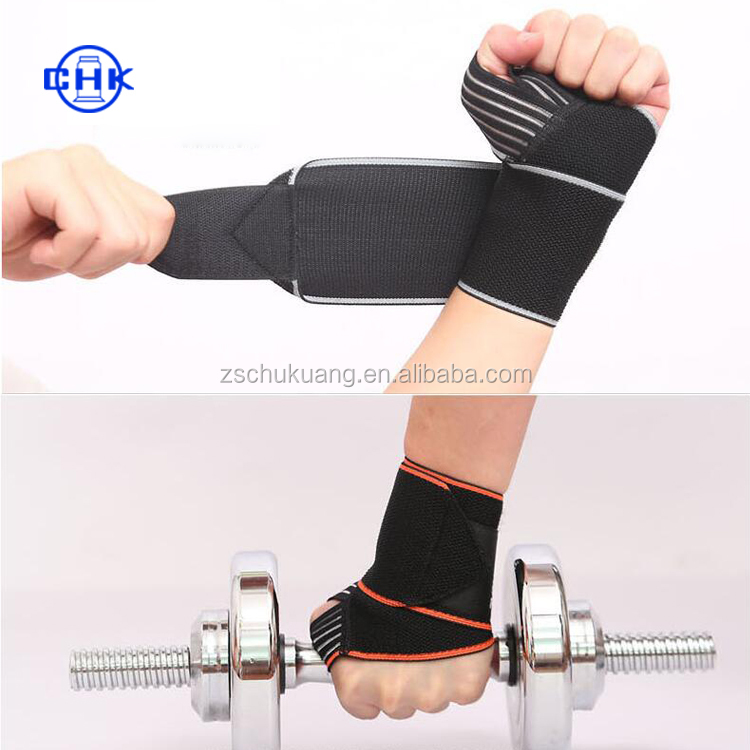 high quality factory price elastic winding comprssion breathable wrist support/wrist bracer/wrist bandage
