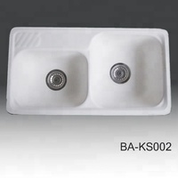 Good quality artificial stone scullery basin washing-up copper kitchen sink