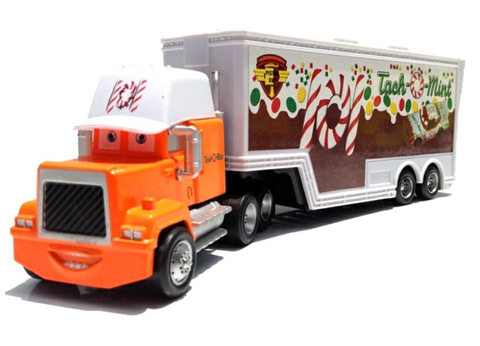 PIXAR CARS 2 Tach-O-Mint No.101 Tailer Truck Rare Mack Loose Rare Diecast 1:55 Metal Toys for Kids Children