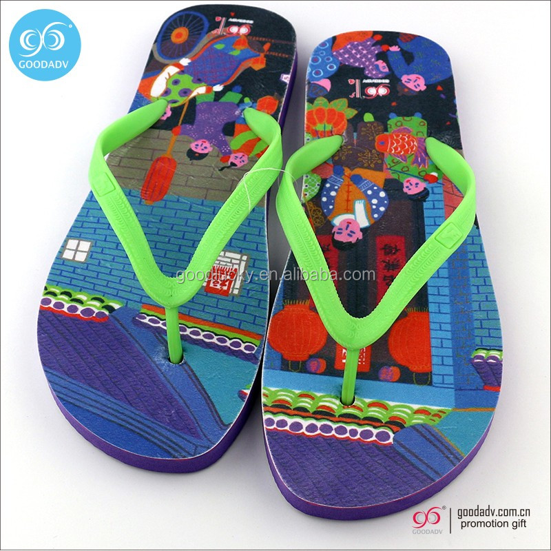 2017 sublimation EVA beach man sandal slipper