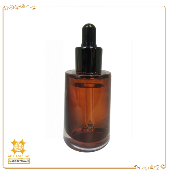 1oz latest elegant beauty cosmetics glass amber oil dropper bottle
