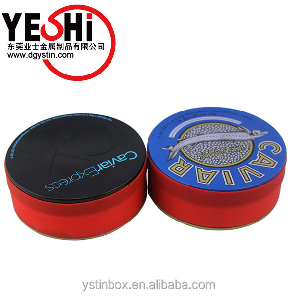 Metal Tinplate Food Grade Round Caviar Packaging Tin Cans