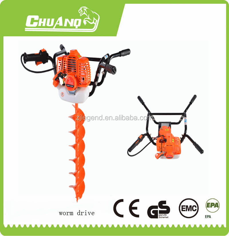 Gasoline auger drill earth auger Use of two person