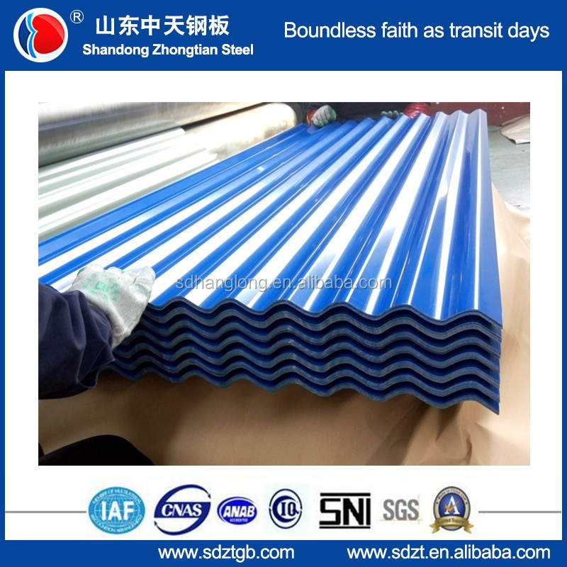 Matte PPGL Corrugated Metal Roofing Sheet