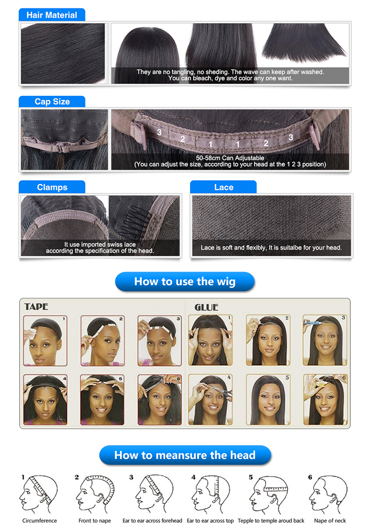 Wholesale Cheap Price 9A Unprocessed Brazilian Virgin Hair Full Lace Human Hair Wigs Kinky Curly Lace Front Wig with Baby Hair