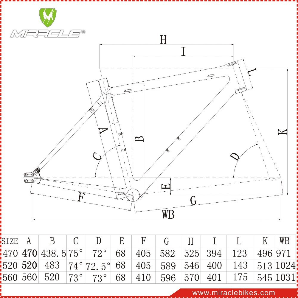 Wunder Fahrrad 700c Singlespeed Kohlefaser Fixed Gear Fahrrad-rahmen ...
