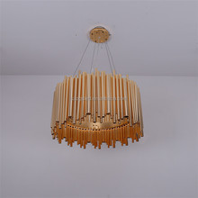 Top sale Modern Industrial Round Gold Aluminum Hanging Chandelier For hotel Project
