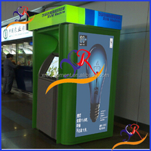 Reverse recycling vending machine for recycle used pet bottles/ cans/ glass