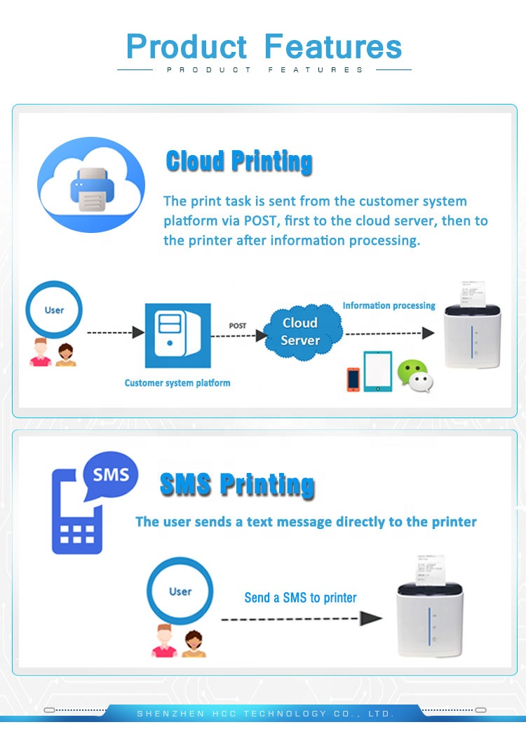 58mm Wifi Thermal Receipt POS Printer With Google Cloud Print HCC-POS58D-UWC