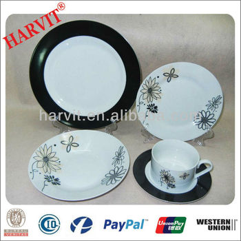 China Products Hot Wholesale porcelain dinner set/20pc Decal Ceramic Dinnerware Sets