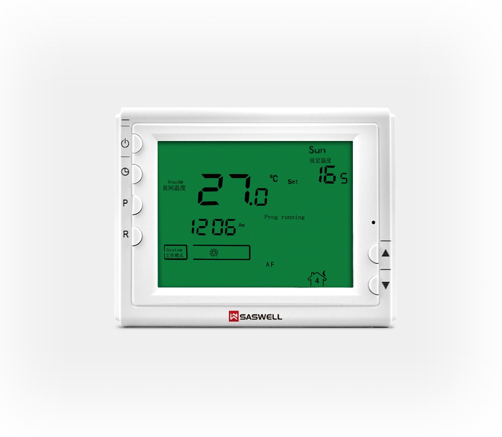 Smart Device Enabled, Automatic Heating/Cooling, Built-in Wi-Fi, Touch Screen, Saswell Programmable 7days Thermostats