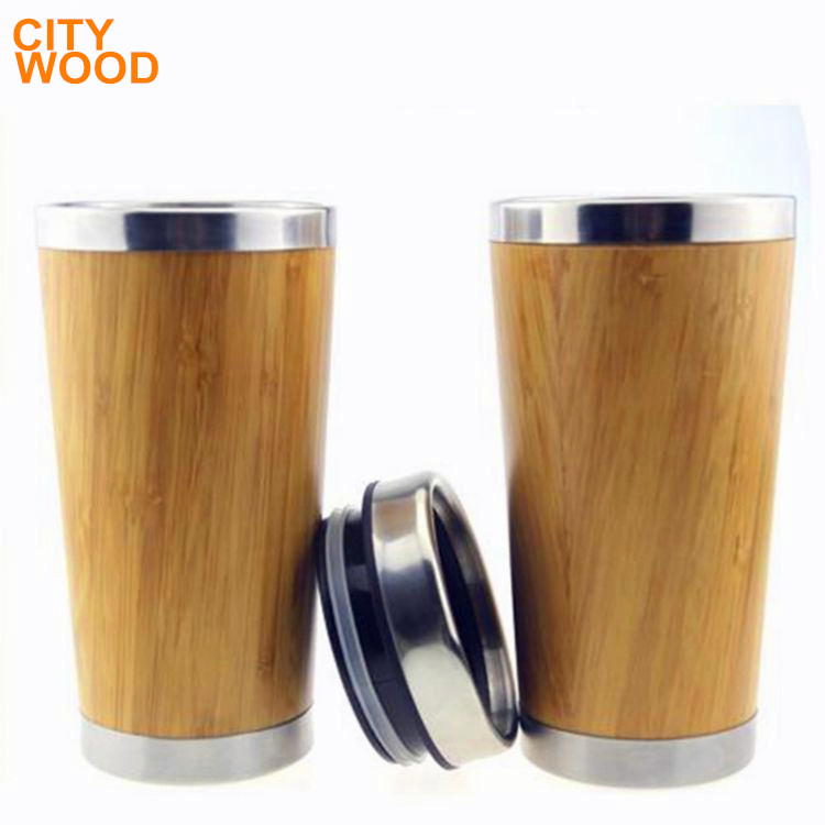 Hot-selling bamboo wood coffee cup with 380ml