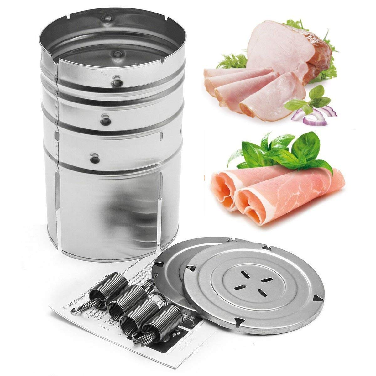 Stainless Steel Press Ham Maker Meat Fish Poultry Seafood Homemade Specialties K