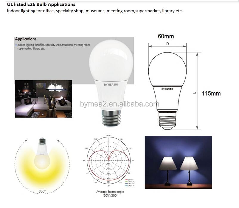 60w Equivalent 2700k Estar Dimmable Led Light Bulb