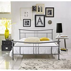 Get Quotations Premier Annika Queen Metal Platform Bed Frame Nickel