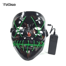 Vacanze di Illuminazione Al Neon Led Smorfia Maschera di <span class=keywords><strong>Film</strong></span> <span class=keywords><strong>A</strong></span> <span class=keywords><strong>Tema</strong></span> horror Shock <span class=keywords><strong>Partito</strong></span> Decor Light Up Wacky Maschera Da Clown Luci Di Natale All'aperto