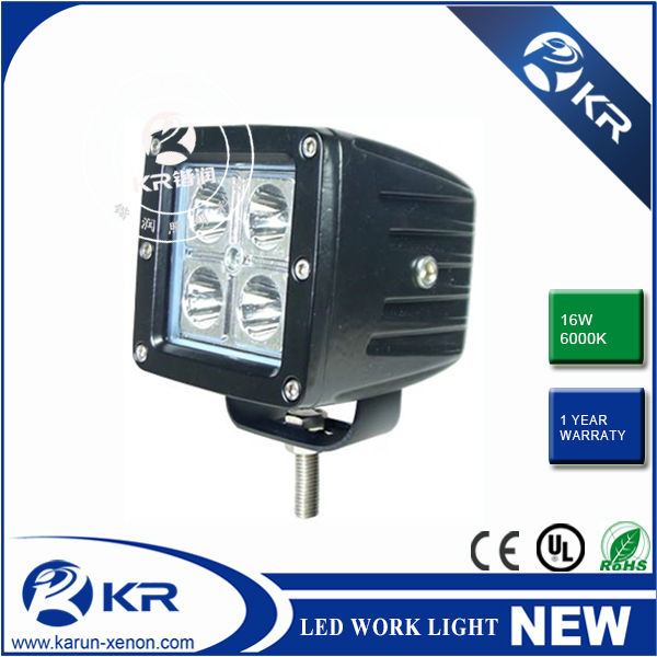 Promotion 11.5$/pc 16W Square Cree LED Working Lights,LED Work Lights for Trucks,16W led work light