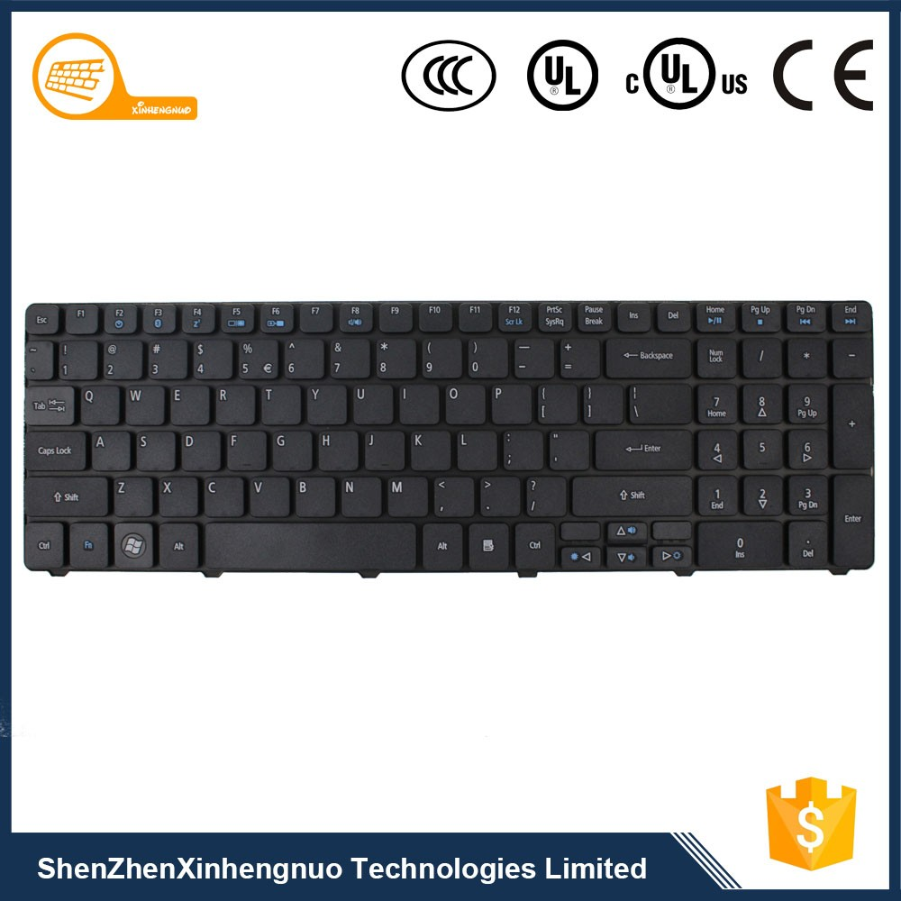 OEM Shenzhen Black Wired Laptop keyboard with Quality Keys for Acer Hp