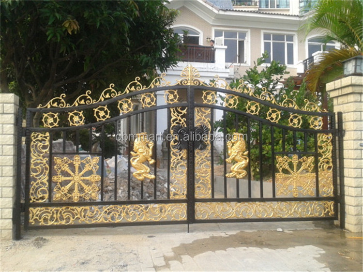 Colorful Main Wrought Iron Gate Design