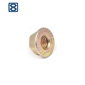 Made in china DIN 6923 brass Hexagon flange nuts