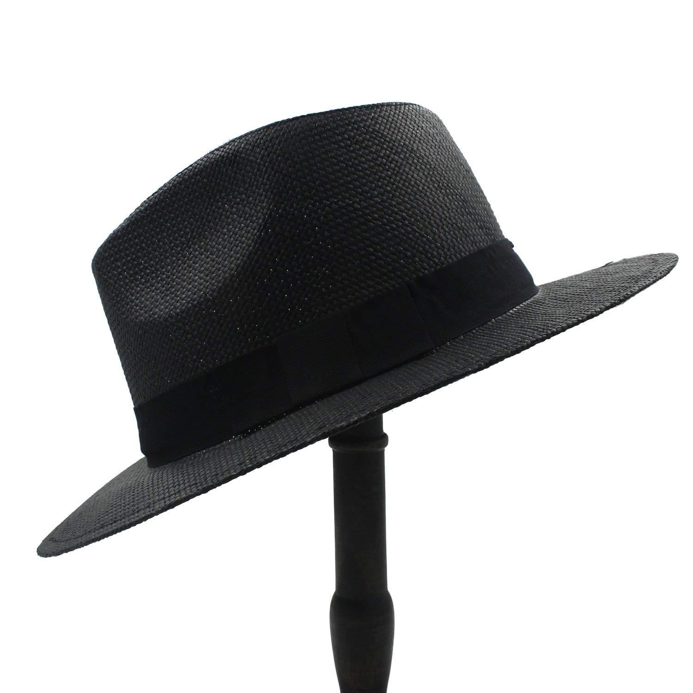 6180a82068464 Get Quotations · Gweat Summer Women Men Wide Brim Toquilla Straw Panama Sun  Hat For Elegant Lady Gentleman Gangster