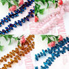 glass beads for jewelry making, ab glass beads, 6*12mm decorative glass beads