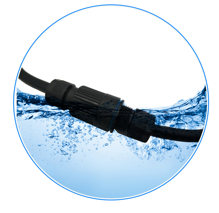 dc led outdoor lighting 12V waterproof connector