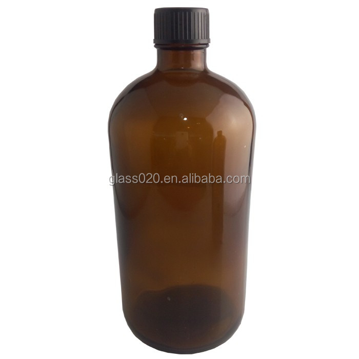 Wholesale Stock Lot 1 Liter Amber Glass Bottle With 30/415 Neck ...