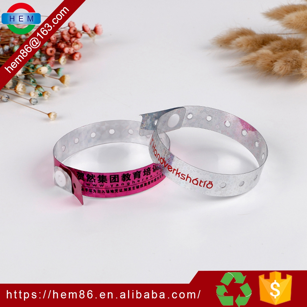 customized Thanksgiving Event Professional Holographic Entertainment glitter wristband for party