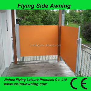 manual side awning/home large side awning Retractable side markise