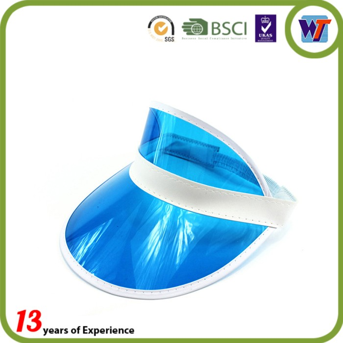 Cheap Pvc/Plastic Waterproof Summer Transparent Sun Visor Cap