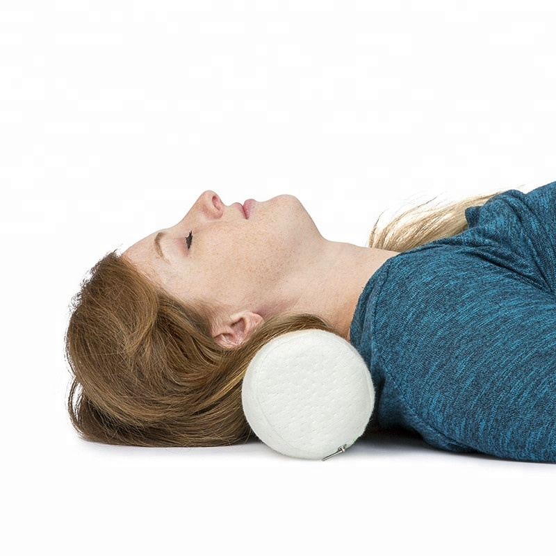 2019 New Style Soft Velvet Cover Bolster Memory Foam Bolster Pillow