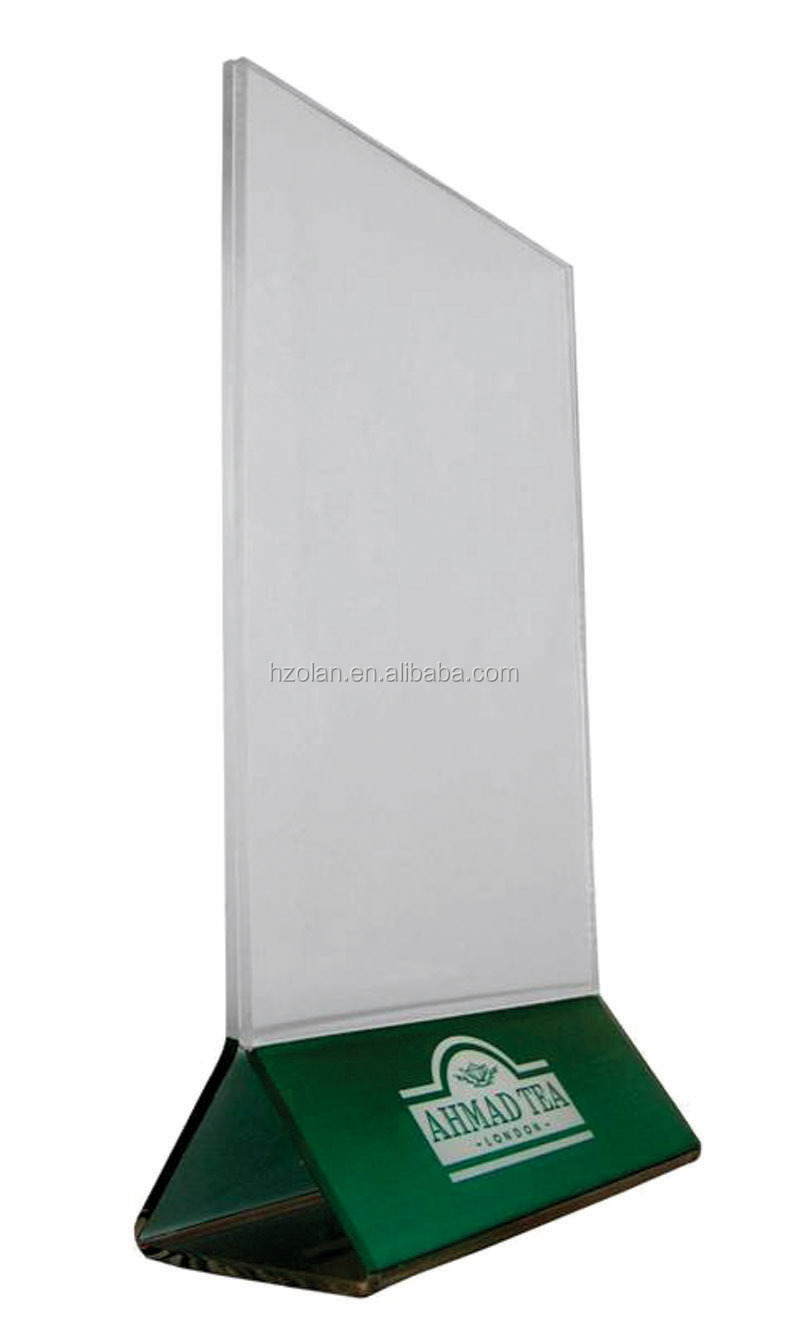 Acrylic Menu Holder Plastic Table Menu Stand Table Tent Buy - Acrylic menu table tent holders