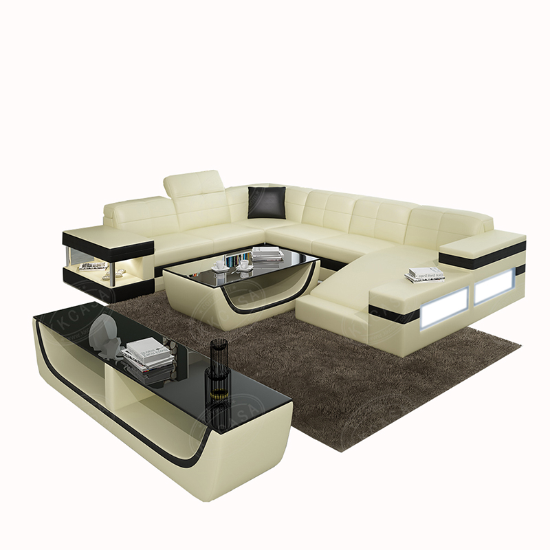Modern Italian Living Room High Quality Color Sectional U Shaped Genuine  Leather Sofa Made In China - Buy U Shape Leather Sofa,Sectional Leather  Sofa ...