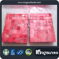 Frozen Yellow fin tuna belly portion steak kama saku cube for Japan Market