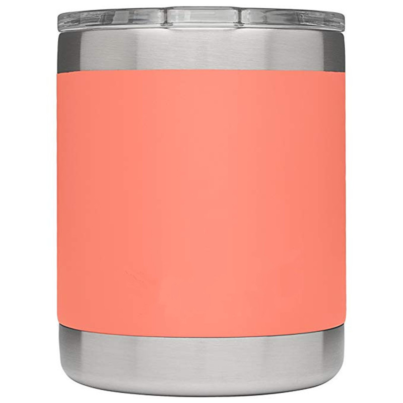 10oz High Quality Double Wall Vacuum Insulated Travel Coffee Mug powder coast Stainless Steel Tumbler